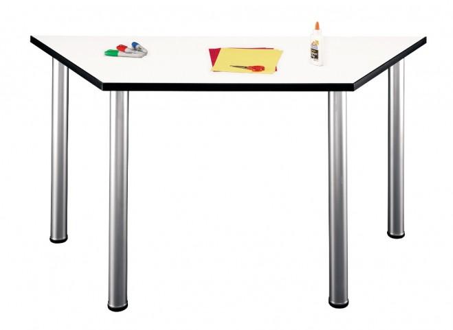 Aspen White Spectrum Trapezoid Table