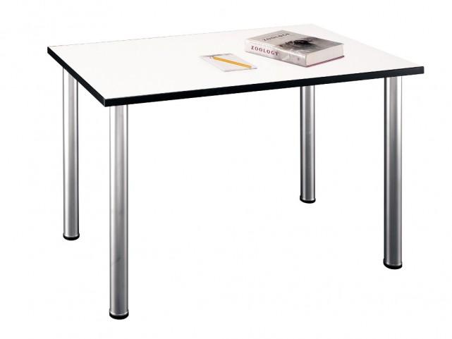 Aspen White Spectrum 48 Inch Rectangle Table