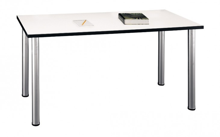 Aspen White Spectrum 57 Inch Large Rectangle Table