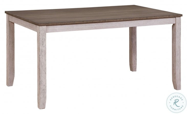 Ithaca Grayish White And Brown Dining Table