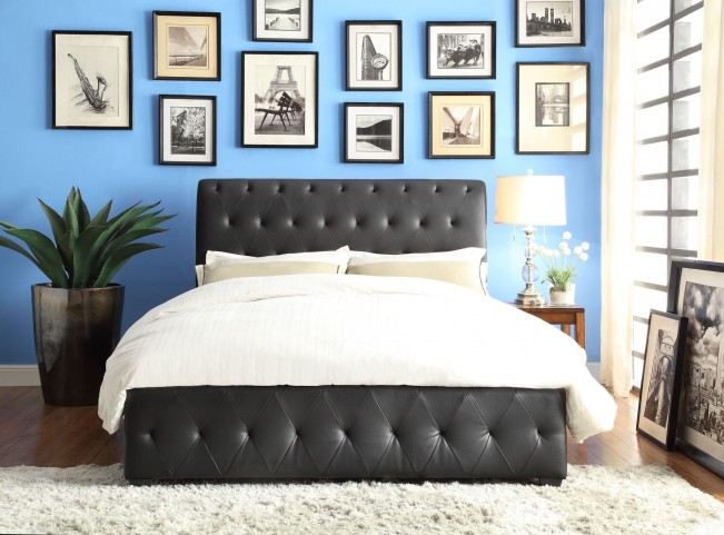 Baldwyn Vinyl Queen Platform Bed