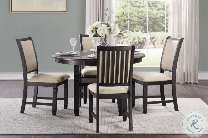 Asher Brown And Black Dining Table
