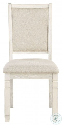 Asher Beige And White Side Chair Set Of 2