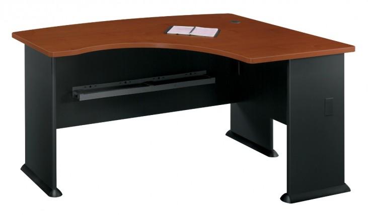 Series A Hansen Cherry 60 Inch RH L-Bow Desk