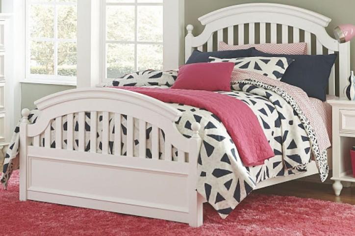 Academy White Full Panel Bed