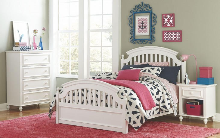 Academy White Youth Panel Bedroom Set