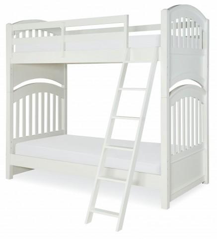 Academy White Full over Full Bunk Bed
