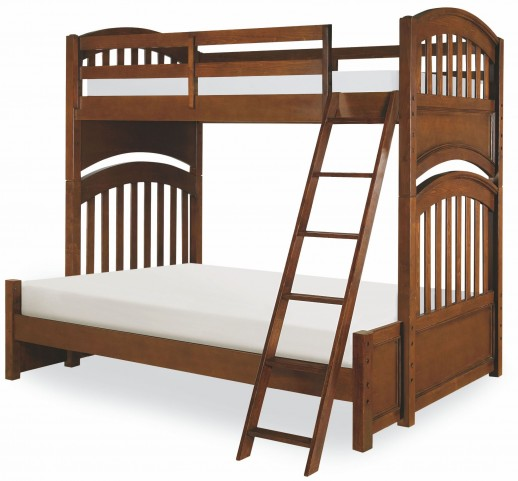 Academy Cinnamon Full over Full Bunk Bed