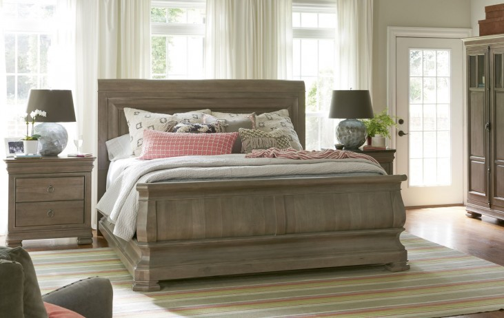 Reprise Driftwood Sleigh Bedroom Set From Universal