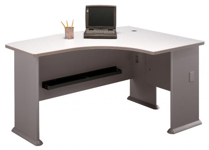 Series A Pewter 60 Inch RH L-Bow Desk