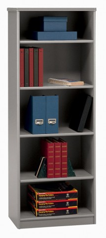 Series A Pewter 26 Inch 5-Shelf Bookcase