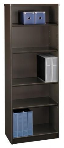 Series A Sienna Walnut 26 Inch 5-Shelf Bookcase