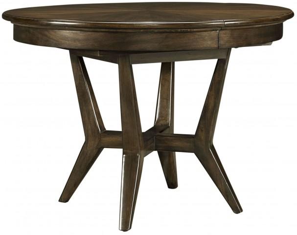 Santa Clara Burnished Walnut Extendable Round Dining Table