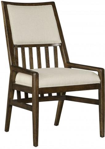 Santa Clara Burnished Walnut Upholstered Arm Chair