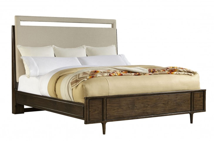 Santa Clara Burnished Walnut Queen Upholstered Bed
