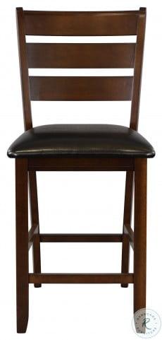 Ameillia Dark Oak Counter Height Chair Set of 2