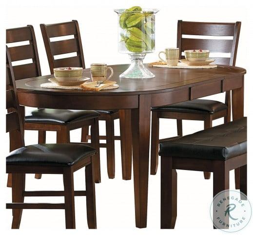 Ameillia Dark Oak Extendable Dining Room Set