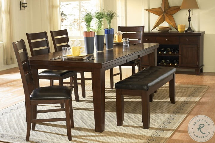 Ameillia Dark Oak Server with Two Wine Racks