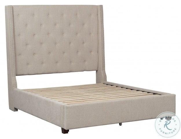 Fairborn Beige Full Upholstered Platform Bed