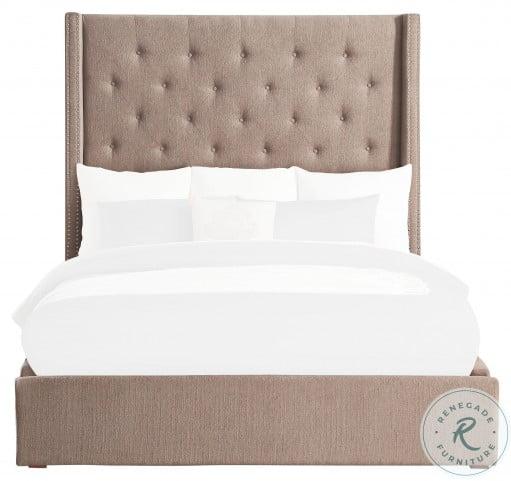 Fairborn Brown Full Upholstered Platform Bed