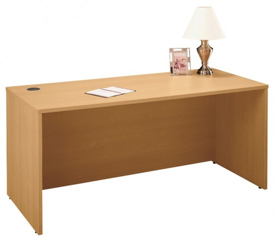 Series C Light Oak 66 Inch Desk Shell