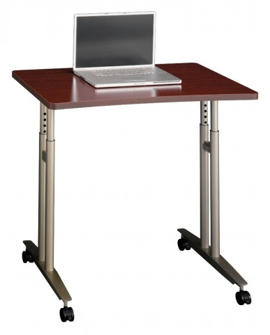 Series C Mahogany Adjustable Height Mobile Table