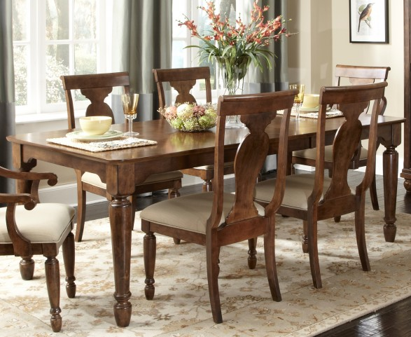 Rustic Tradition Extendable Rectangular Leg Table