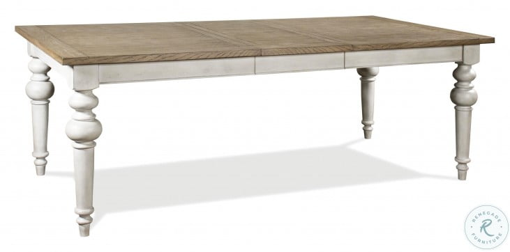 Southport Antique Oak And Smokey White Extendable Dining Table
