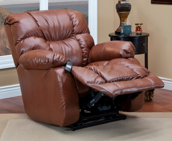 Bonded Leather III Canyon Brown Wall-a-Way Reclining Lift Chair