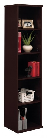 Series C Mocha Cherry 18 Inch 5-Shelf Bookcase