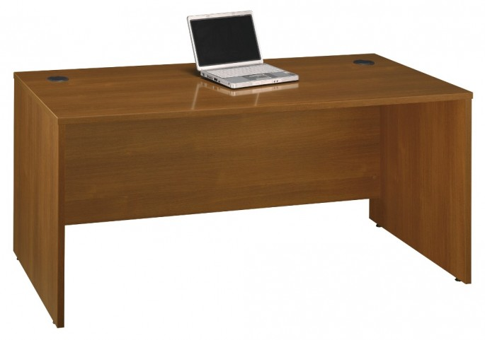 Series C Warm Oak 66 Inch Desk Shell