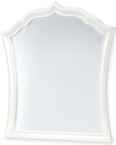 Tiffany Pearlized White Vertical Mirror