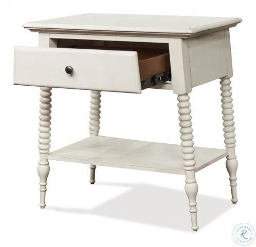 Myra Paperwhite 1 Drawer Nightstand