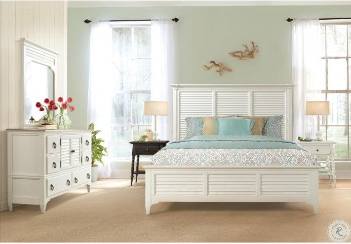 Myra Paperwhite Louvered Bedroom Set