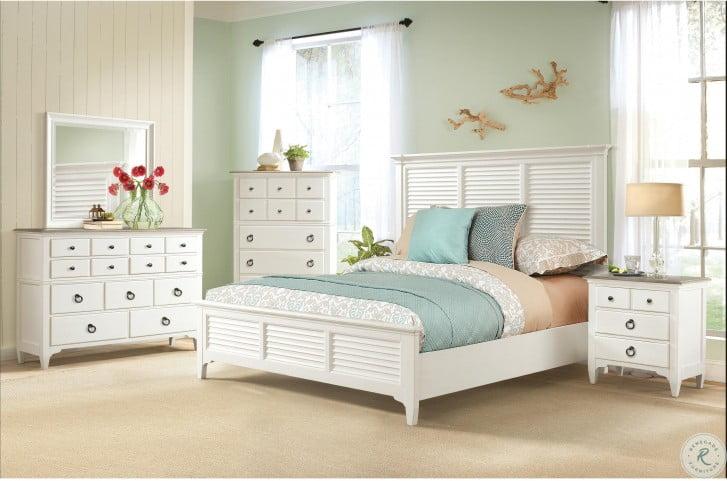 Myra Natural And Paperwhite 9 Drawer Dresser
