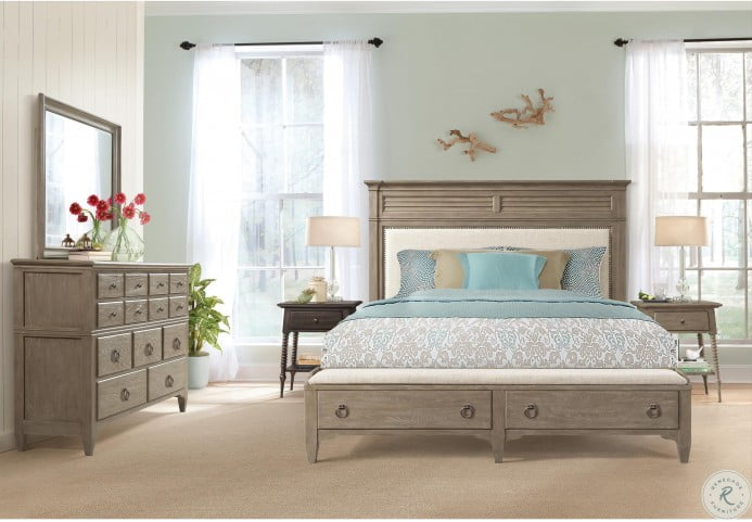 Myra Natural Upholstered Storage Bedroom Set From Riverside Furniture Coleman Furniture