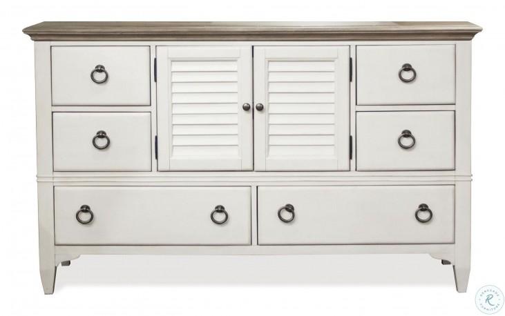 Myra Natural And Paperwhite Door Dresser