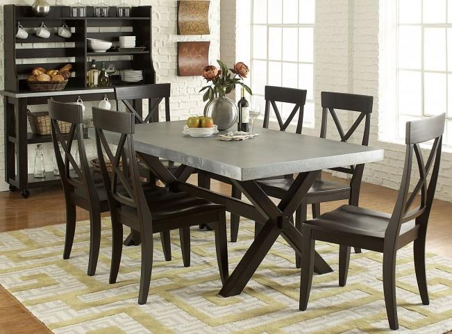 Keaton II Charcoal Trestle Dining Room Set