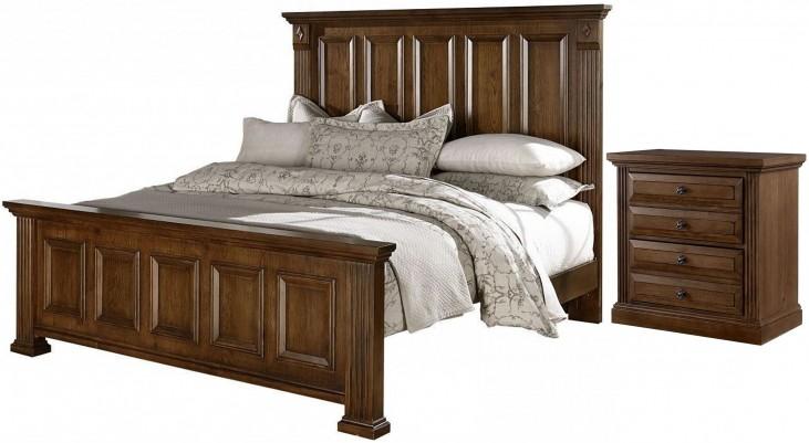 Woodlands Oak Mansion Bedroom Set