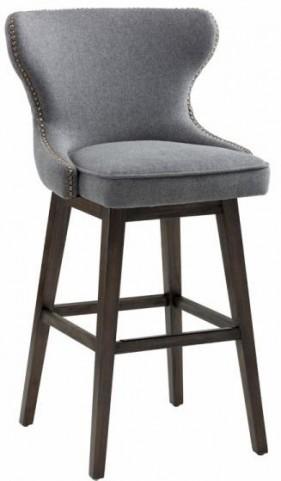 Ariana Dark Grey Fabric Swivel Barstool