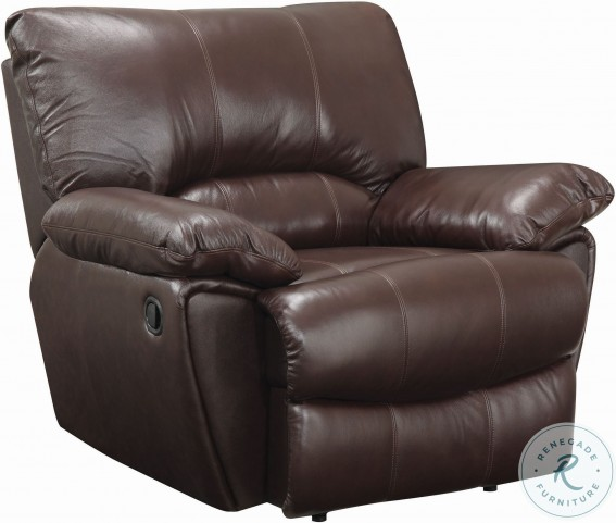 Clifford Chocolate Leather Recliner