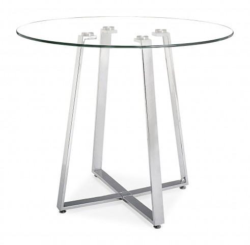 Lemon Drop Tempered Glass Counter Table