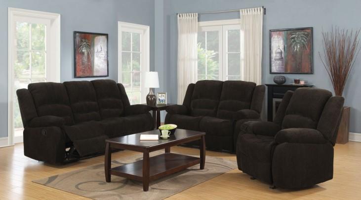 Gordon Dark Brown Reclining Living Room Set