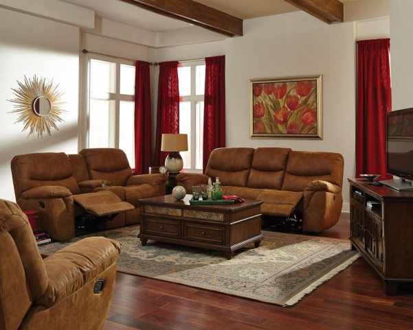 Hancox Light Brown Reclining Living Room Set