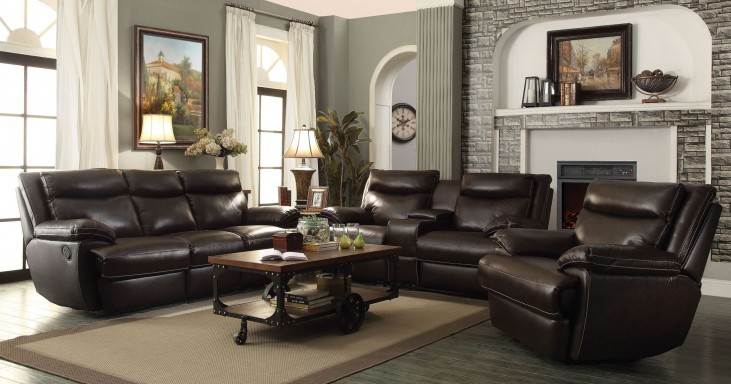Macpherson Cocoa Bean Reclining Living Room Set