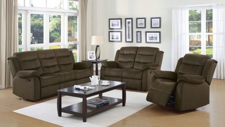 Rodman Chocolate Reclining Living Room Set
