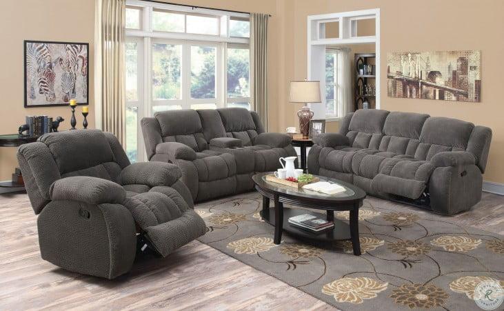 Weissman Charcoal Reclining Sofa