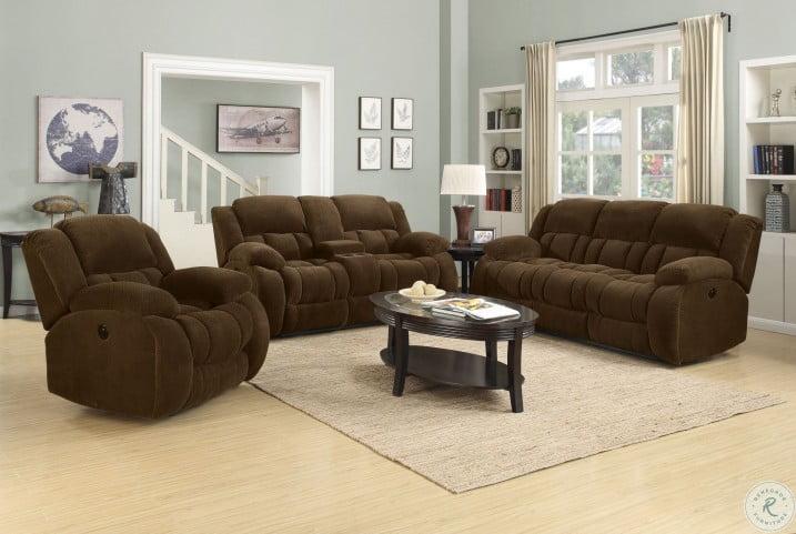 Weissman Chocolate Reclining Living Room Set