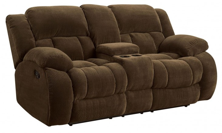 Weissman Brown Reclining Loveseat