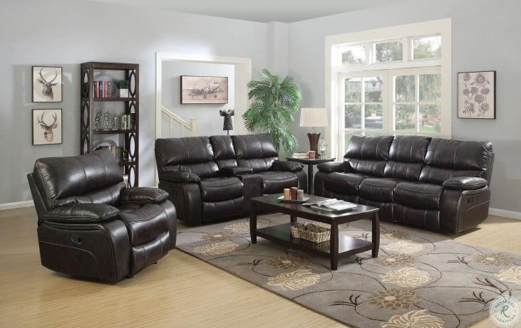 Willemse Dark Brown Reclining Living Room Set